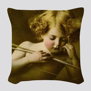 Cupid Asleep Woven Throw Pillow