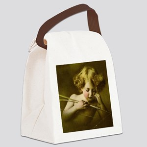 Cupid Asleep Canvas Lunch Bag