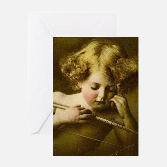 Cupid Asleep Greeting Cards