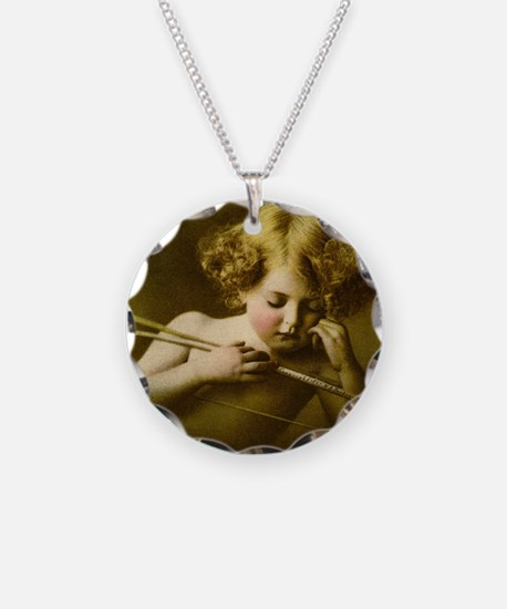 Cupid Asleep Necklace