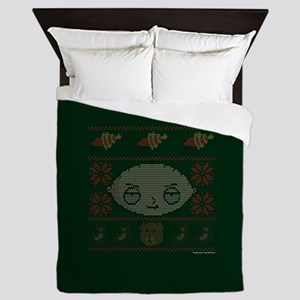 family guy stewie ugly christmas Queen Duvet