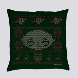 family guy stewie ugly christmas Everyday Pillow