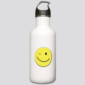 Winking Smiley Face Stainless Water Bottle 1.0L
