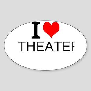 I Love Theater Sticker