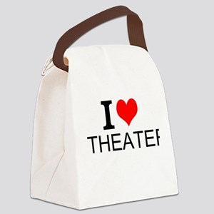 I Love Theater Canvas Lunch Bag