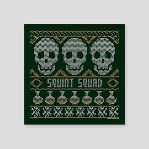 "bones ugly christmas Square Sticker 3"" x 3"""