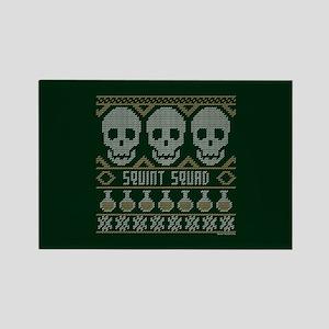bones ugly christmas Rectangle Magnet
