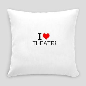 I Love Theatre Everyday Pillow