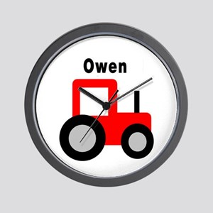 Owen - Red Tractor Wall Clock