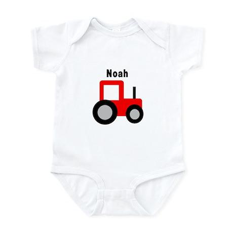 Noah - Red Tractor Infant Bodysuit