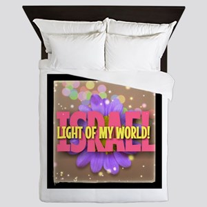 ISRAEL LIGHT OF MY WORLD Queen Duvet