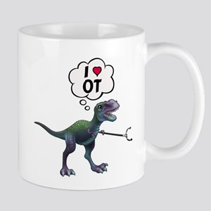 T-Rex Loves Occupational Therapy Mugs