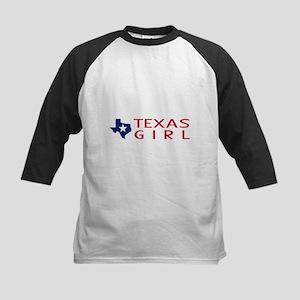 Texas Girl Kids Baseball Tee