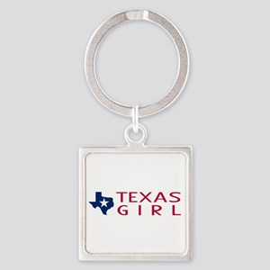 Texas Girl Square Keychain