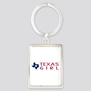 Texas Girl Portrait Keychain