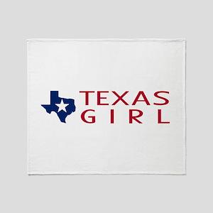 Texas Girl Throw Blanket