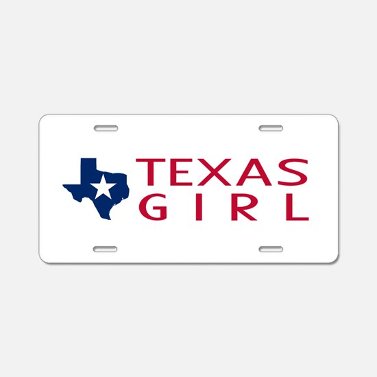 Texas Girl Aluminum License Plate