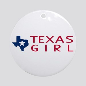 Texas Girl Round Ornament