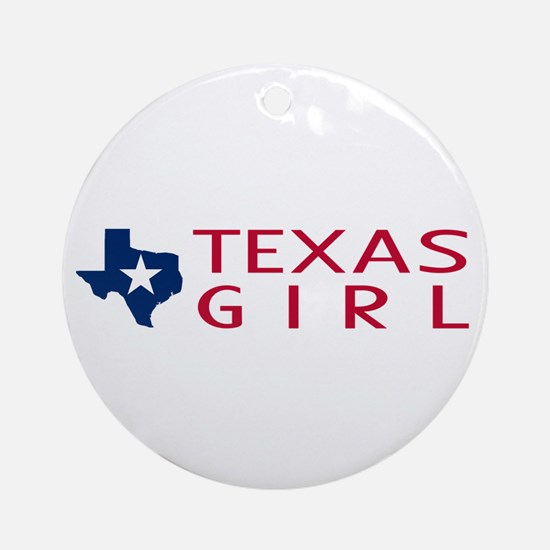 Texas Girl Round Ornament