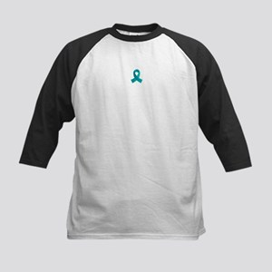 Teal Awareness Ribbon Kids Baseball Jersey