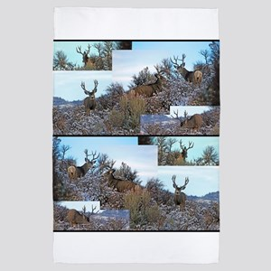 Mule deer photo art 4' x 6' Rug
