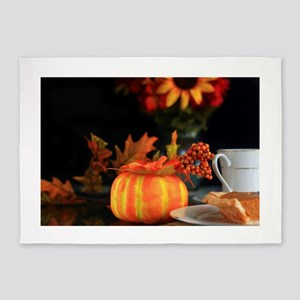 Thanksgiving greetings 5'x7'Area Rug