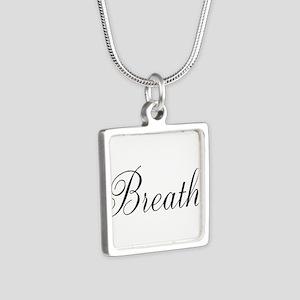 Breathe Black Script Necklaces