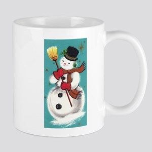Retro Snowman Mugs