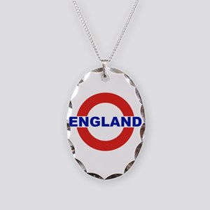 England Necklace Oval Charm