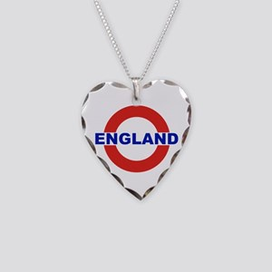 England Necklace Heart Charm
