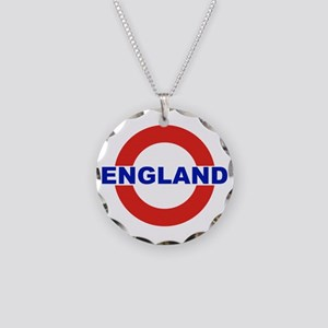 England Necklace Circle Charm