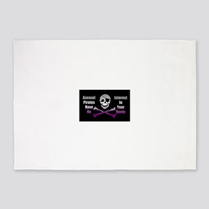 Asexual Pirate Flag 5'x7'Area Rug