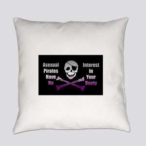 Asexual Pirate Flag Everyday Pillow