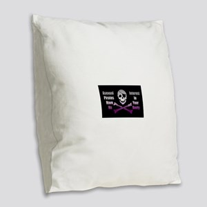 Asexual Pirate Flag Burlap Throw Pillow