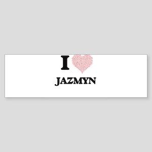 I love Jazmyn (heart made from word Bumper Sticker