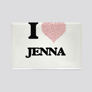 I love Jenna (heart made from words) desig Magnets