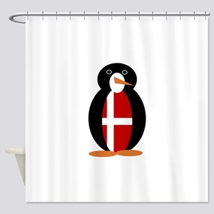 Penguin of Denmark Shower Curtain