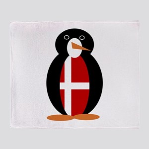 Penguin of Denmark Throw Blanket