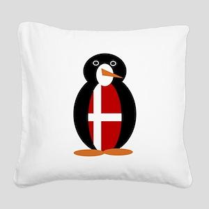 Penguin of Denmark Square Canvas Pillow