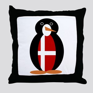 Penguin of Denmark Throw Pillow