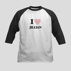 I love Jillian (heart made from wo Baseball Jersey