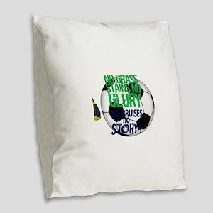 Soccer Burlap Throw Pillow