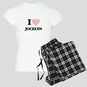 I love Jocelyn (heart made Women's Light Pajamas