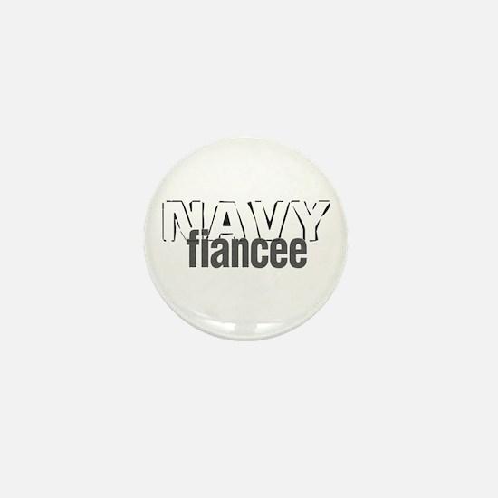 Navy Fiancee Mini Button