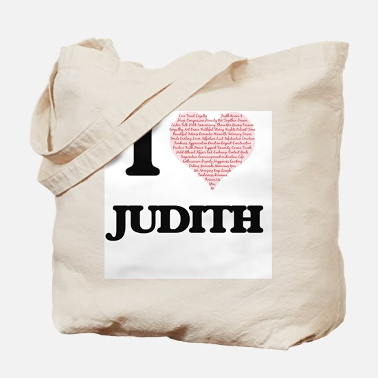 I love Judith (heart made from words) des Tote Bag