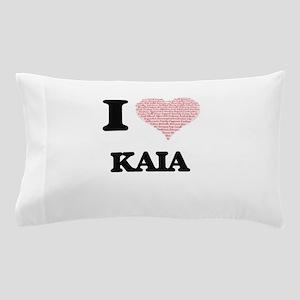 I love Kaia (heart made from words) de Pillow Case