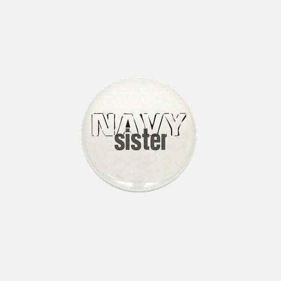 Navy Sister Mini Button