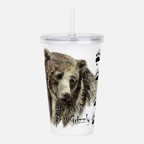 Watercolor Grizzly Bear Tracks Animal art Acrylic