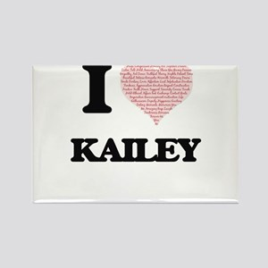 I love Kailey (heart made from words) desi Magnets