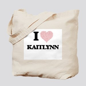I love Kaitlynn (heart made from words) d Tote Bag
